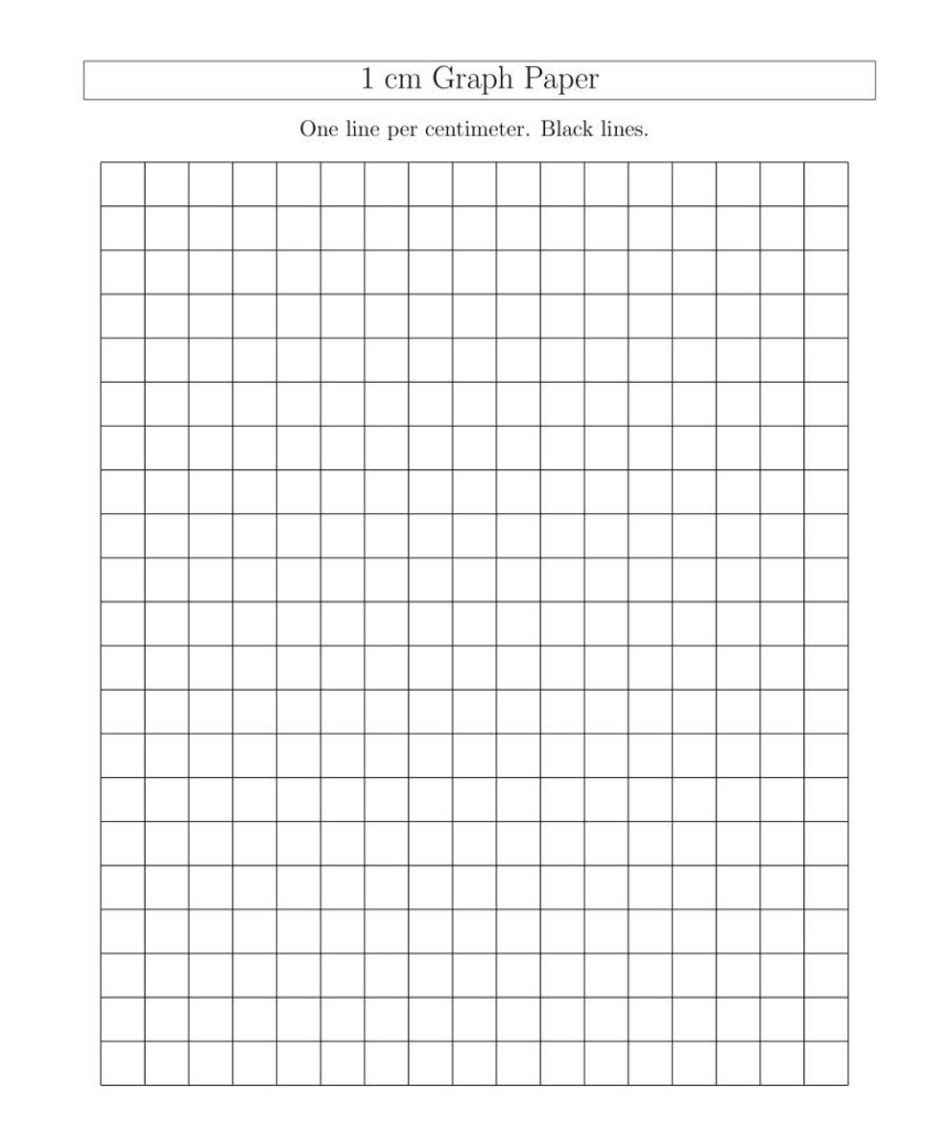 1 Centimeter Graph Paper