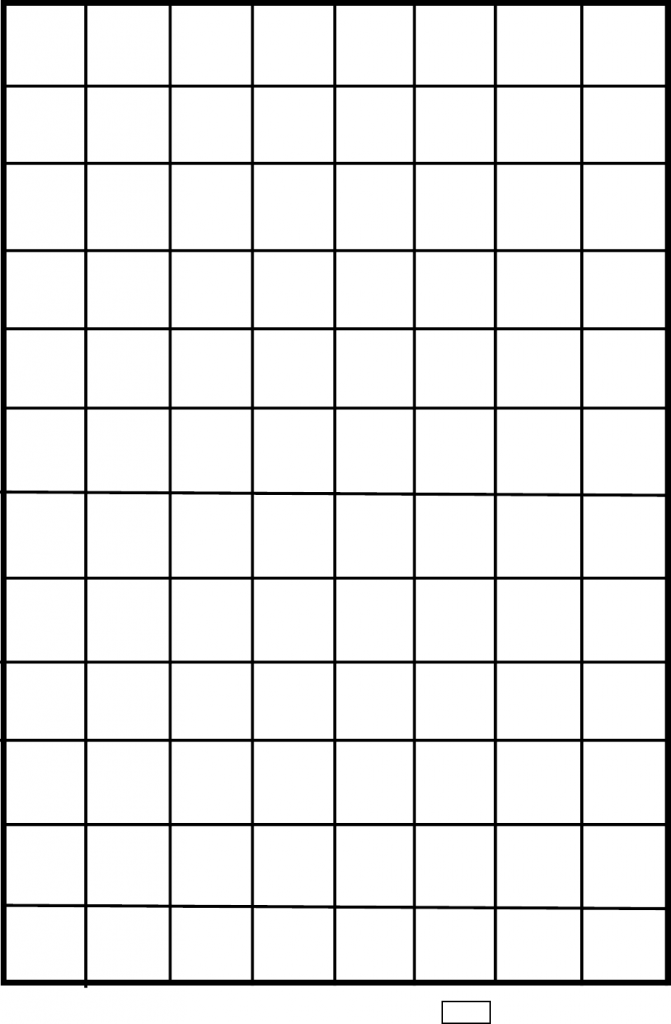 1 One Inch Graph Paper