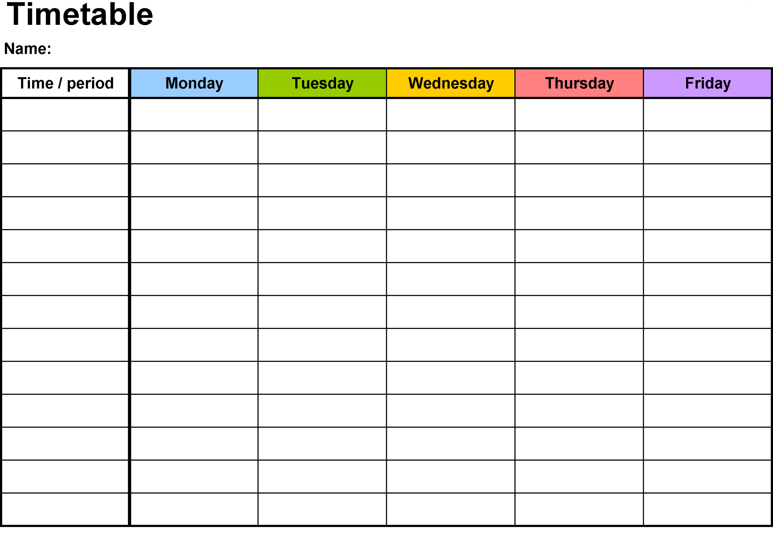 Employee weekly Tracker Sheet calendar