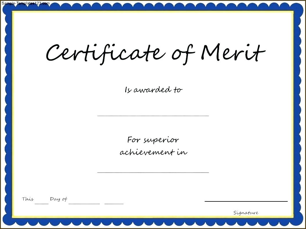 Certificate of Merit For Students